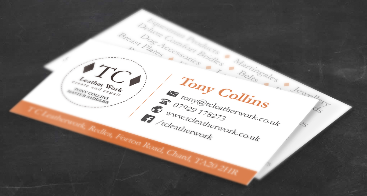 T C Leatherwork Business Cards